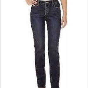 St. John's Bay Short Straight Leg Dark Wash Jeans